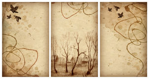 Backgrounds with pencil drawing Stock Photography