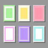Backgrounds with polka dot. Collection of cute girlish backgrounds for various kinds of design such as postcard, invitation, poster, frame stock illustration