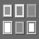 Backgrounds with polka dot and ruches. Collection of cute girlish backgrounds for various kinds of design such as postcard, invitation, poster, frame royalty free illustration