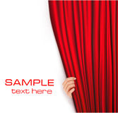 Backgrounds with red velvet curtain. Vector Stock Images