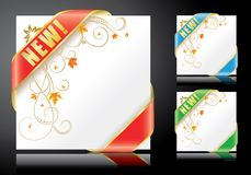 Backgrounds with ribbons. Autumn backgrounds with ribbons on black Royalty Free Stock Photography