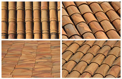 Backgrounds of roof tiles Royalty Free Stock Photo