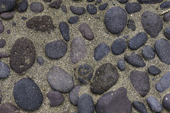 Backgrounds with sand and stones Royalty Free Stock Images