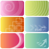Backgrounds set Royalty Free Stock Photography