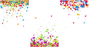 Backgrounds set with color confetti. Stock Photos