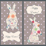 Backgrounds set with easter rabbit Royalty Free Stock Photography