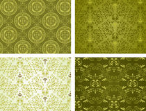 Backgrounds set. Floral Ornaments. Set of 4 Ornament Backgrounds. Seamless Pattern. Vector vector illustration