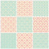 Backgrounds set. Seamless wallpaper vintage Royalty Free Stock Photography