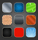 Backgrounds with texture for the app icons Stock Images