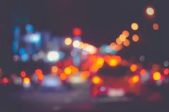 Backgrounds textures light from cars on the street, Bokeh traffic light background. stock images