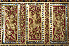 Backgrounds. Thai style art of the temple Royalty Free Stock Photo
