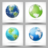 Backgrounds with triangular planet Earth Royalty Free Stock Image