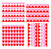 Backgrounds for Valentines day. Collection of backgrounds for Valentines day with abstract red and pink hearts Stock Images