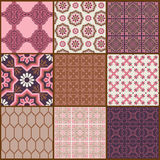 Backgrounds - Vintage Tiles and Flowers Royalty Free Stock Images