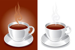 Backgrounds with white glossy cup Royalty Free Stock Photography