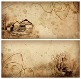 Backgrounds With Pencil Drawing Royalty Free Stock Photography