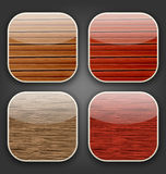Backgrounds with wooden texture for the app icons Royalty Free Stock Photography