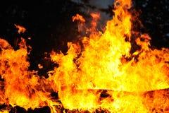 Backgroung огня и пламен Стоковые Фотографии RF