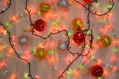 Backgroung светов гирлянды рождества Стоковая Фотография RF