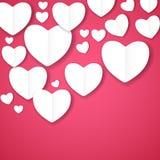 Backgroung del corazón del papel de día de tarjetas del día de San Valentín, ejemplo del vector Imágenes de archivo libres de regalías