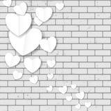 Backgroung do coração do papel do dia de Valentim, ilustração do vetor Fotos de Stock Royalty Free