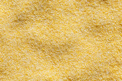 Backgroung of dry cornmeal polenta. Stock Image