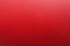 Backgroung en cuir rouge avec la surface approximative Photographie stock libre de droits