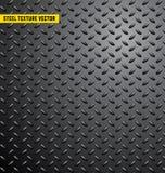 Backgroung för stålmodelltextur, järn, industriell skinande metall, sömlös, rostfri metallisk textur, vektorillutration Royaltyfri Fotografi