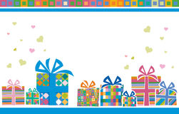 Backgroung with gift boxes Royalty Free Stock Photography