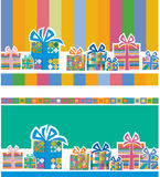 Backgroung with gift boxes royalty free illustration