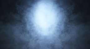 Backgroung image of a deep blue smoke and light Royalty Free Stock Photography