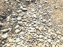 Backgroung of rock gravel pebbles of different size and shape. Nn Stock Image