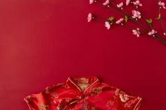 Backgroung rojo chino del Año Nuevo 2019 Endecha plana imagen de archivo libre de regalías
