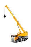 backgroung żuraw odizolowywający nad zabawki ciężarówki biel Obraz Royalty Free