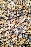 Backgroung von kleinen Steinen Stockfotos