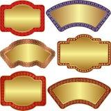 Backgrouns de oro Imagen de archivo libre de regalías