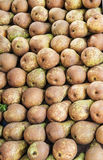 Pears. Backgrouns of pears at street market Royalty Free Stock Images