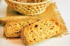 backgrpund chlebowego cięcia odosobniony biel Fotografia Royalty Free