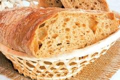 backgrpund chlebowego cięcia odosobniony biel Zdjęcie Stock