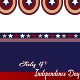 Backgrpund de logo de Capatin Amérique pour le Jour de la Déclaration d'Indépendance du 4 juillet Photographie stock