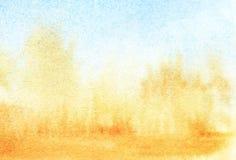 Backgrpund do inclinação da aquarela da turquesa a arenoso ilustração stock