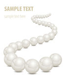 Backgruon vith pearls Royalty Free Stock Images