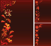 Backgruonds avec le décor floral Image stock