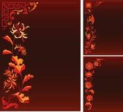 Backgruonds con la decoración floral Imagen de archivo