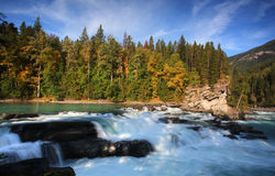 Backguard Falls on Fraser River Royalty Free Stock Photography