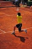 Backhand-Davis Cup: Romania-Ecuador Royalty Free Stock Photos