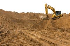 Backhoe на следе песка Стоковое Фото