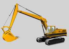 Backhoe. 3d Isolated Backhoe royalty free illustration