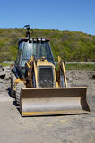 Backhoe. Front View of a Backhoe Stock Image