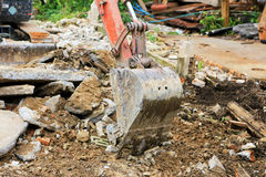 Backhoe car working in construction site Royalty Free Stock Photography